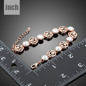 Lightweight Crystal Flower Design Bracelet - KHAISTA Fashion Jewellery