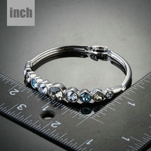 Load image into Gallery viewer, Lightweight Platinum Plated Crystal Bangle - KHAISTA Fashion Jewellery
