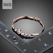 Load image into Gallery viewer, Lightweight Round Crystals Bangle - KHAISTA Fashion Jewellery
