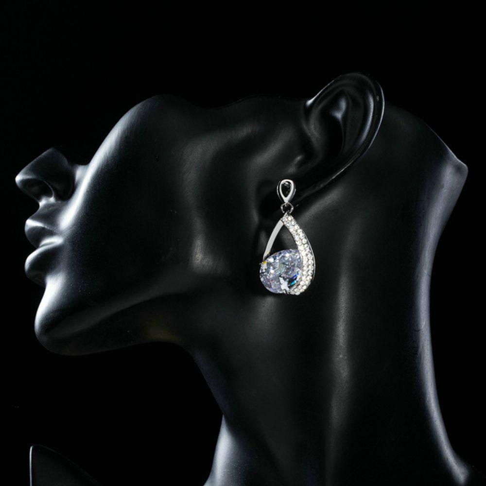 Limited Edition Cubic Zirconia Drop Earrings - KHAISTA Fashion Jewellery
