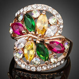 Limited Edition Flower Zirconia Ring - KHAISTA Fashion Jewellery