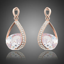 Load image into Gallery viewer, Limited Edition Gold Plated Cubic Zirconia Drop Earrings - KHAISTA Fashion Jewellery