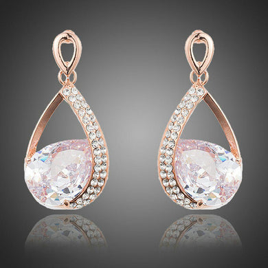 Limited Edition Gold Plated Cubic Zirconia Drop Earrings - KHAISTA Fashion Jewellery