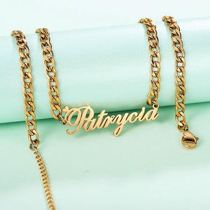 Link Chain Name Necklace - KHAISTA
