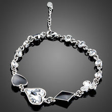 Load image into Gallery viewer, Little Heart Shaped Crystal Bracelet - KHAISTA Fashion Jewellery