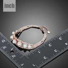 Load image into Gallery viewer, Lobster Cubic Zirconia With Pearls Bracelet - KHAISTA Fashion Jewellery