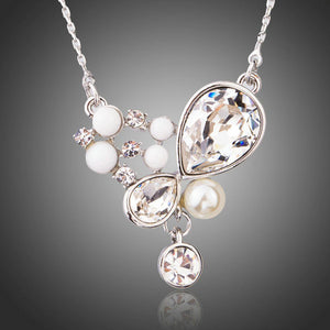 Long Chain Pearl Pendant Necklace KPN0197 - KHAISTA Fashion Jewellery