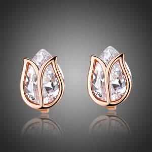Lotus Stud Earrings -KPE0311 - KHAISTA Fashion Jewellery