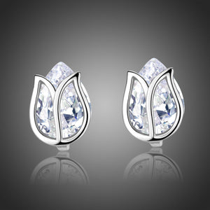 Lotus Stud Earrings -KPE0312 - KHAISTA Fashion Jewellery