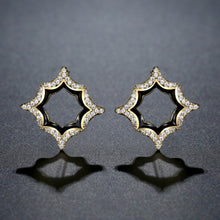Load image into Gallery viewer, Luxury Geometric Stud Earrings -KPE0388 - KHAISTA Fashion Jewellery