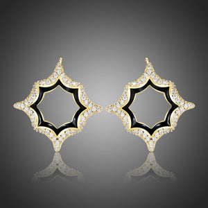 Luxury Geometric Stud Earrings -KPE0388 - KHAISTA Fashion Jewellery