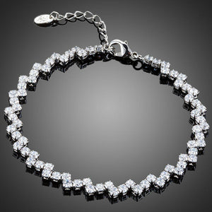 Marquise Cut CZ Tennis Bracelet - KHAISTA Fashion Jewellery