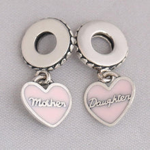 Load image into Gallery viewer, Mother & Daughter Hearts Dangle Charm - KHAISTA