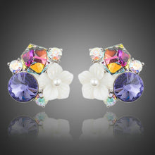 Load image into Gallery viewer, Multi-Color Flower Stud Earrings - KHAISTA Fashion Jewellery