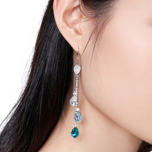 Load image into Gallery viewer, Multicolor Austrian Crystal Drop Earrings -KPE0342 - KHAISTA Fashion Jewellery