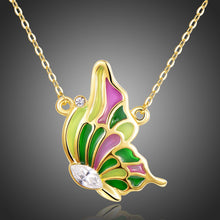 Load image into Gallery viewer, Multicolor Butterfly Necklace KPN0265 - KHAISTA Fashion Jewellery