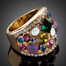 Load image into Gallery viewer, Multicolor Crystal Party Ring - KHAISTA Fashion Jewellery