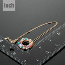 Load image into Gallery viewer, Multicolor Round Pendant Necklace - KHAISTA Fashion Jewellery