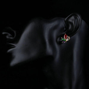 Multicolored Butterfly Stud Earrings - KHAISTA Fashion Jewellery