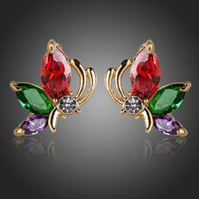 Load image into Gallery viewer, Multicolored Butterfly Stud Earrings - KHAISTA Fashion Jewellery