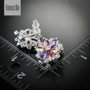 Multicolored Flower Stud Earrings - KHAISTA Fashion Jewellery