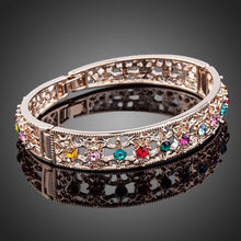 Load image into Gallery viewer, Multicolour Crystal Studs Bangle -KBQ0026 - KHAISTA Fashion Jewelry