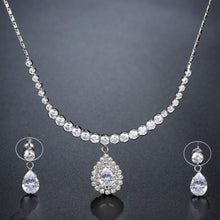 Load image into Gallery viewer, Nigerian Water Drop Cubic Zirconia Wedding Jewelry Set - KHAISTA Fashion Jewellery