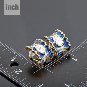 Ocean Blue Clip Earrings - KHAISTA Fashion Jewellery
