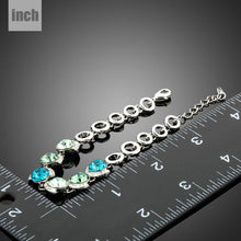 Load image into Gallery viewer, Ocean Crystal Platinum Plated Charm Bracelet - KHAISTA Fashion Jewellery