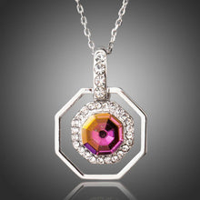 Load image into Gallery viewer, Octagon Crystal Necklace -KJN0188 - KHAISTA