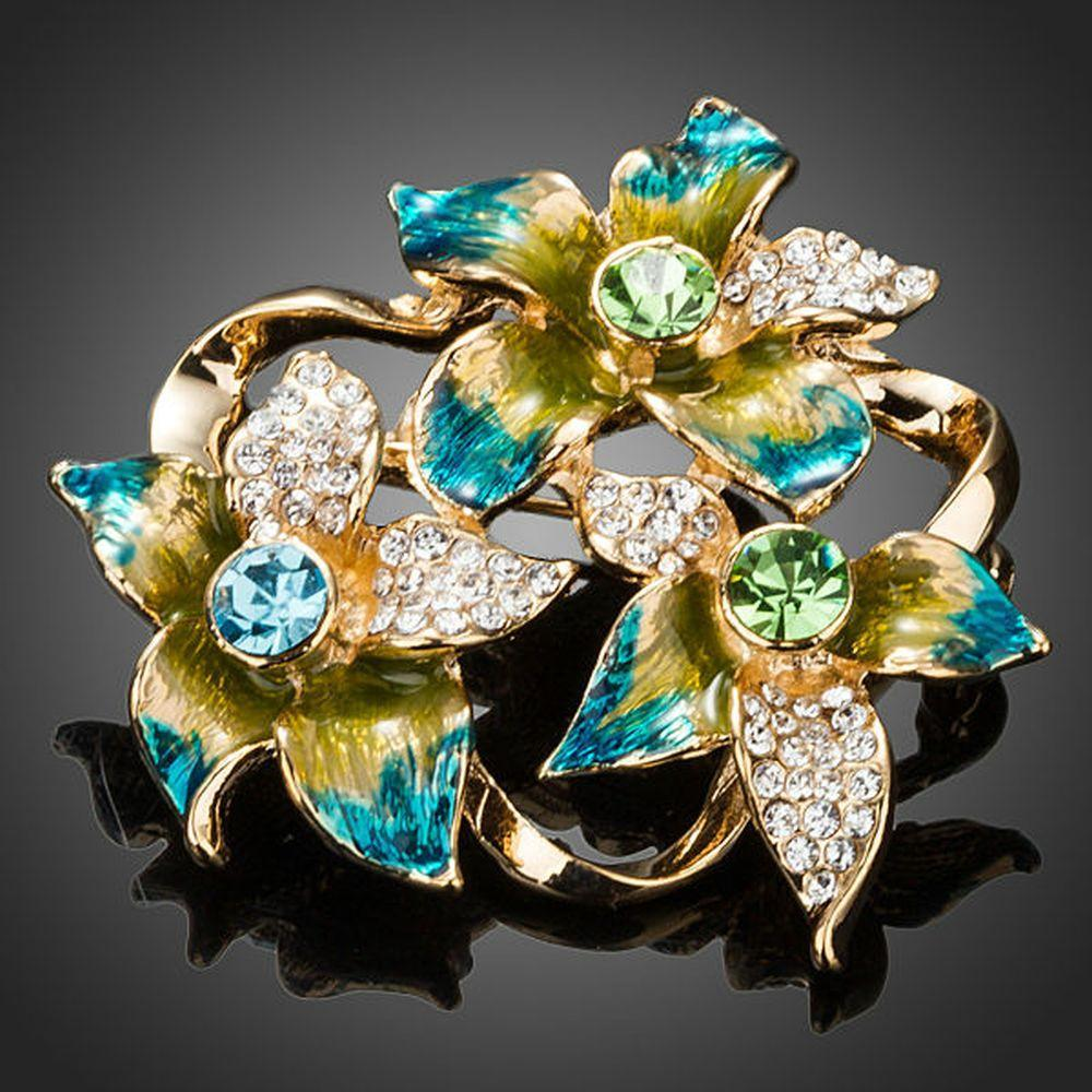 Oil Painting Flower Pin Brooch - KHAISTA Fashion Jewellery