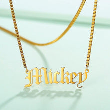 Load image into Gallery viewer, Old English Design Custom Name Necklace - KHAISTA