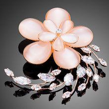 Load image into Gallery viewer, Opal Flower Pin Brooch for Women - KHAISTA Fashion Jewellery