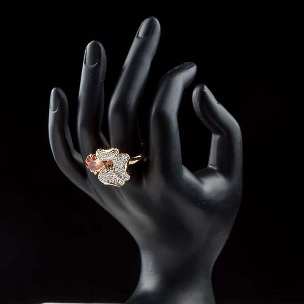 Orange Flower Ring for Women - KHAISTA Fashion Jewellery