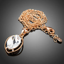 Load image into Gallery viewer, Oval Crystal Pendant KPN0196 - KHAISTA Fashion Jewellery