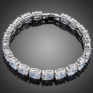 Oval Cubic Zirconia Tennis Bracelet for Woman - KHAISTA Fashion Jewellery
