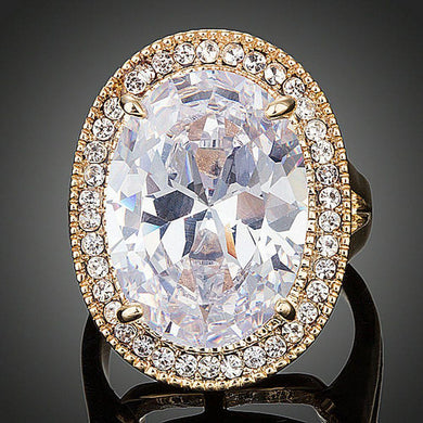 Oval Shape Engagement Ring - KHAISTA Fashion Jewellery