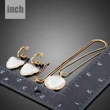 Load image into Gallery viewer, Panther Head Clip Earrings + Pendant Necklace Set - KHAISTA Fashion Jewellery