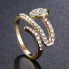 Load image into Gallery viewer, Paved Clear Austrian Rhinestone Shower Ring - KHAISTA Fashion Jewellery