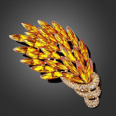 Peacock Feathers Pin Brooch - KHAISTA Fashion Jewellery