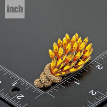 Load image into Gallery viewer, Peacock Feathers Pin Brooch - KHAISTA Fashion Jewellery