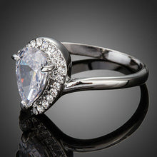 Load image into Gallery viewer, Pear Cut Cubic Zironia Waterdrop Micro Pave Engagement Ring - KHAISTA Fashion Jewellery