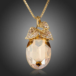 Pear Cut Leaves Pendant Necklace - KHAISTA Fashion Jewellery
