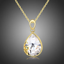 Load image into Gallery viewer, Pear Cut Long Chain Pendant Necklace KPN0241 - KHAISTA Fashion Jewellery