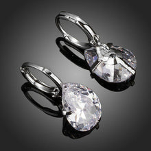 Load image into Gallery viewer, Pear Shaped Cubic Zirconia Drop Earrings - KHAISTA Fashion Jewellery