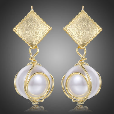 Pearl Drop Earrings for Women -KPE0378 - KHAISTA Fashion Jewellery