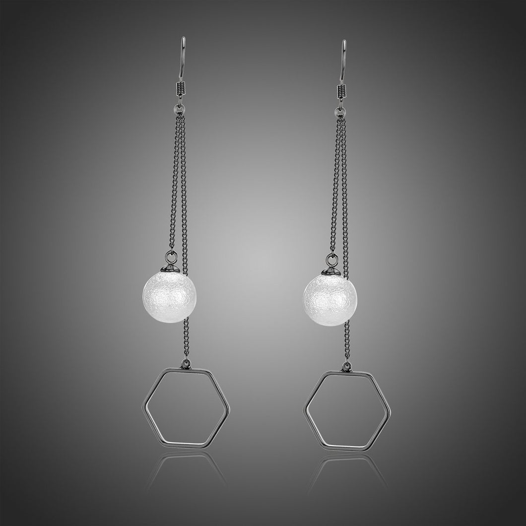 Pearl Drop Earrings -KJE0327 - KHAISTA