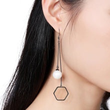 Load image into Gallery viewer, Pearl Drop Earrings -KJE0327 - KHAISTA