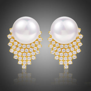 Pearl Stud Earrings for Women -KPE0362 - KHAISTA Fashion Jewellery