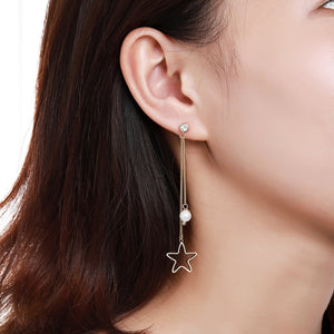 Pentagram Drop Earrings for Women -KPE0372 - KHAISTA Fashion Jewellery